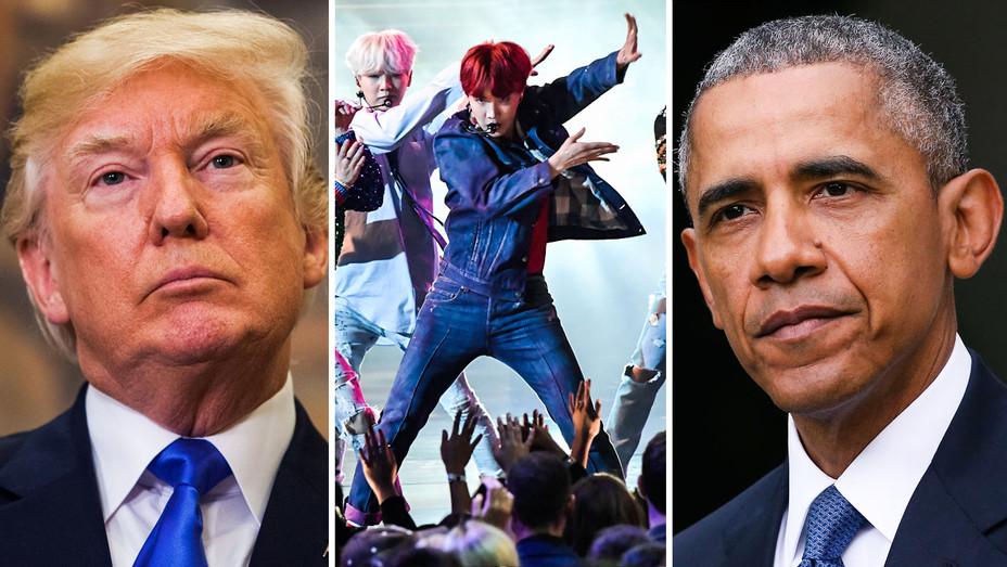 Donald Trump, BTS and Barack Obama - Split - Getty - H 2017