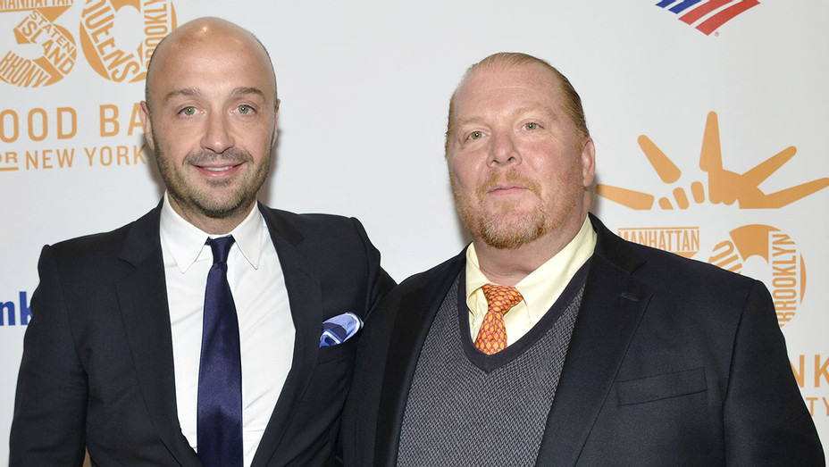 Joe Bastianich and Mario Batali attend the 2013 Food Bank For New York City - Getty-H 2017
