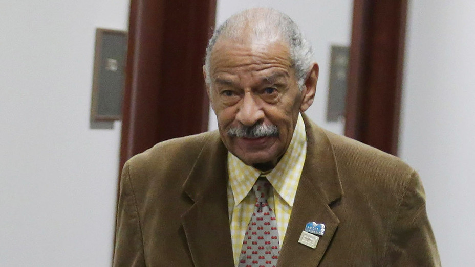 John Conyers -arrives for the first House Democratic caucus meeting 2015 -Getty-H 2017