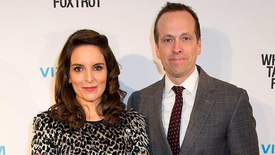 Tina Fey and Robert Carlock attend the Whiskey Tango Foxtrot Screening - Getty-H 2017
