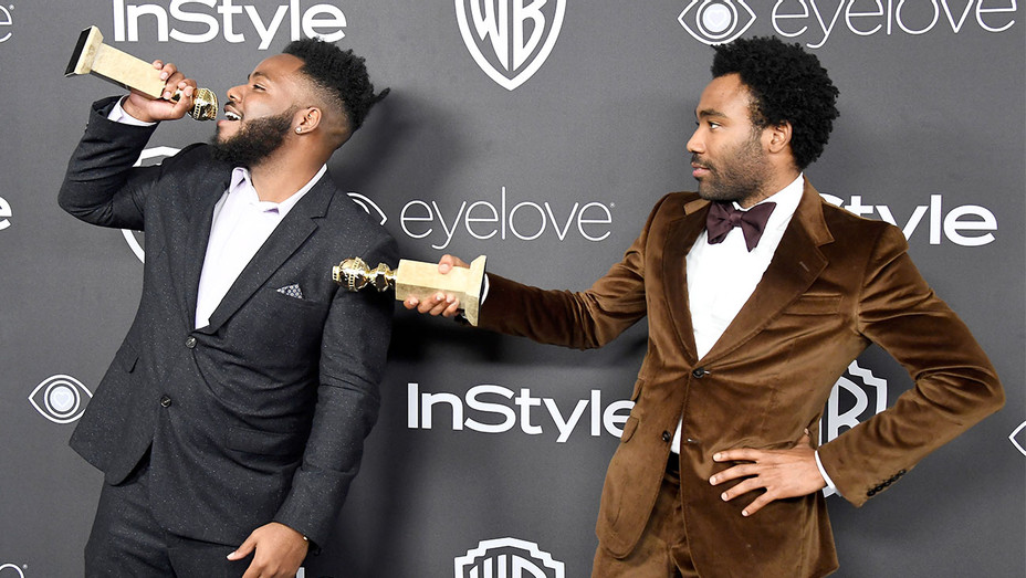 Stephen Glover and Donald Glover attend the 18th Annual Post - January 8, 2017 -Golden Globes Party - H 2017