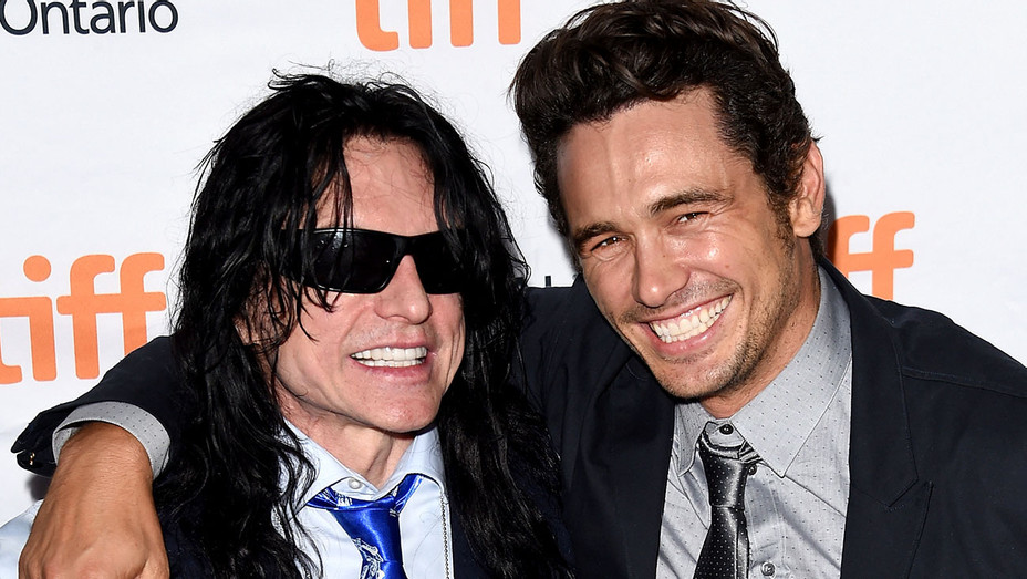Tommy Wiseau (L) and James Franco attend 'The Disaster Artist' premiere during the 2017 Toronto - Getty-H 2017