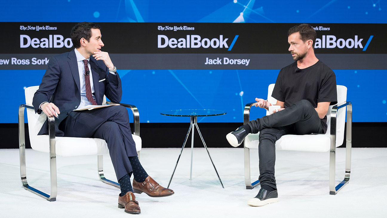 Twitter S Jack Dorsey Wore Weird Sandals To A Talk With Goldman Sachs Ceo Hollywood Reporter