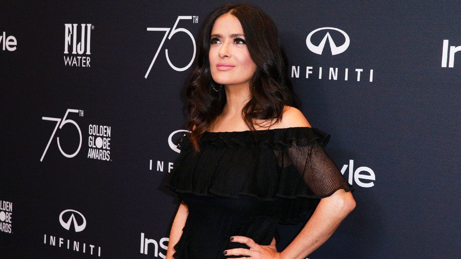 Salma Hayek - HFPA and Instyle 7th Anniversary of The Golden Globes - Getty - H 2017