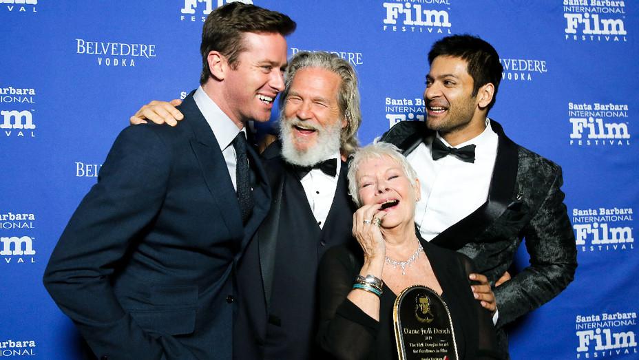 Armie Hammer, Jeff Bridges, Dame Judi Dench and Ali Fazal - Santa Barbara International Film Festival - Getty - H 2017
