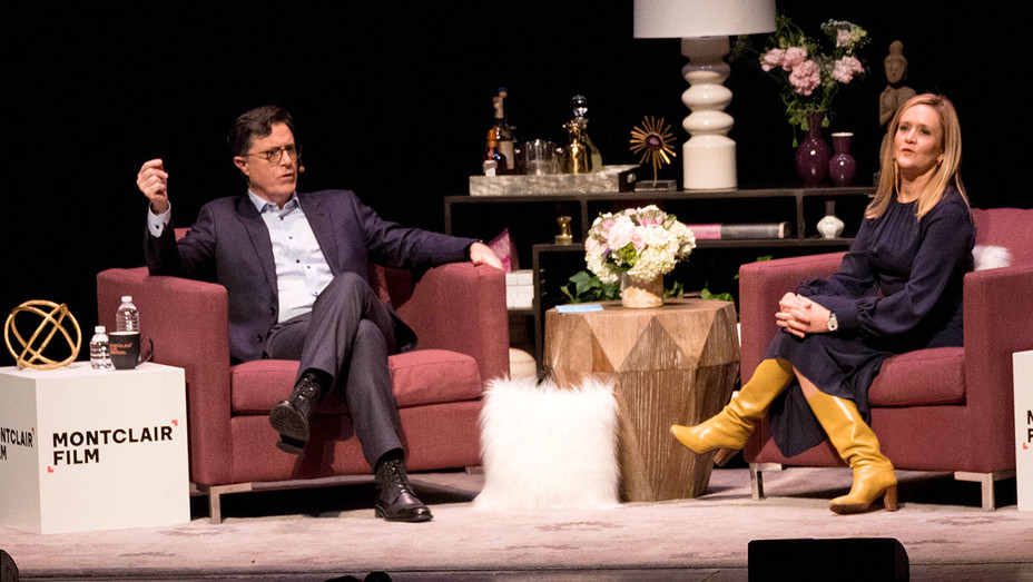 Stephen Colbert and Samantha Bee - Getty - H 2017