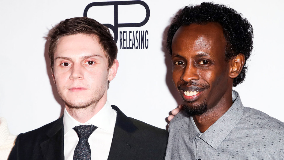 Barkhad Abdi and Evan Peters - The Pirates of Somalia Premiere - Getty - H 2017