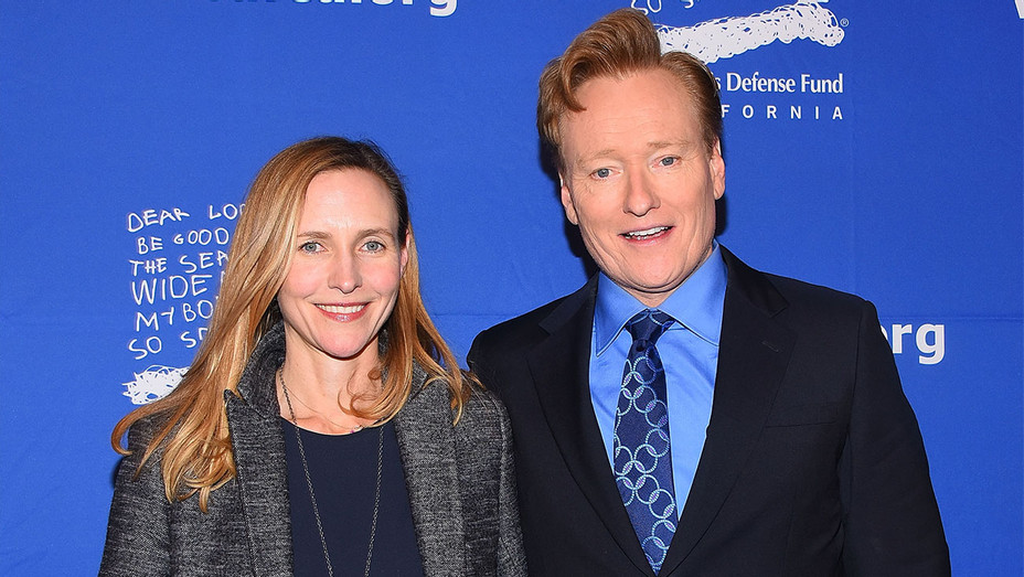 Conan O'Brien and Liza Powell - Children's Defense Fund Beat the Odds Awards - Getty - H 2017