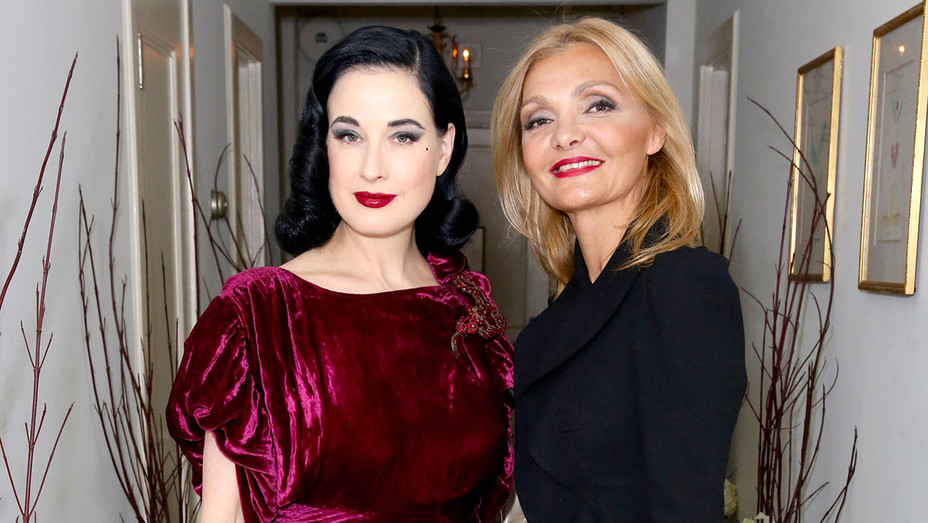 Dita Von Teese and Designer Olga Djanguirov -  Olgana Paris cocktail party - Getty-H 2017