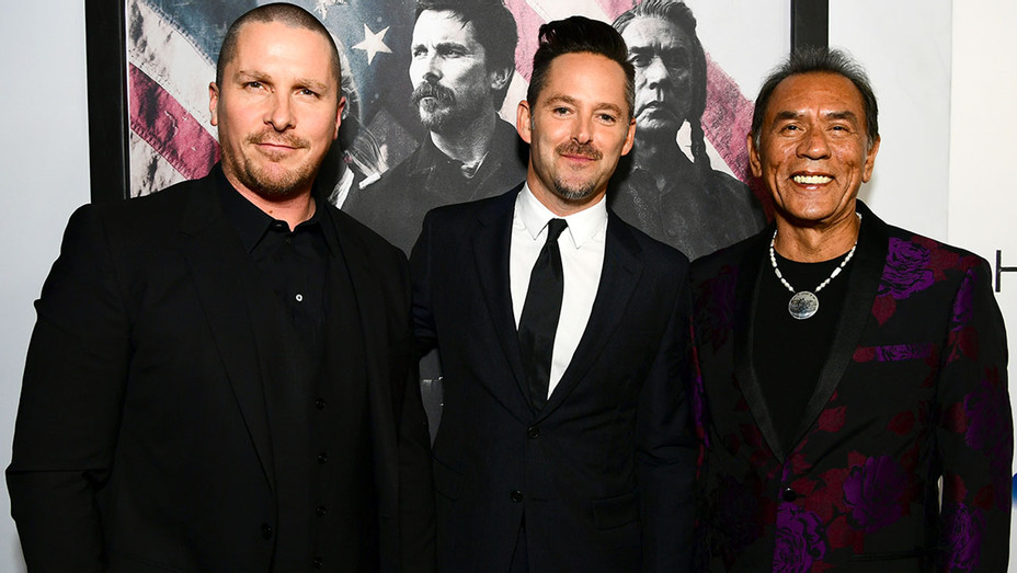 Christian Bale, Scott Cooper and Wes Studi - Hostiles Premiere - Getty - H 2017