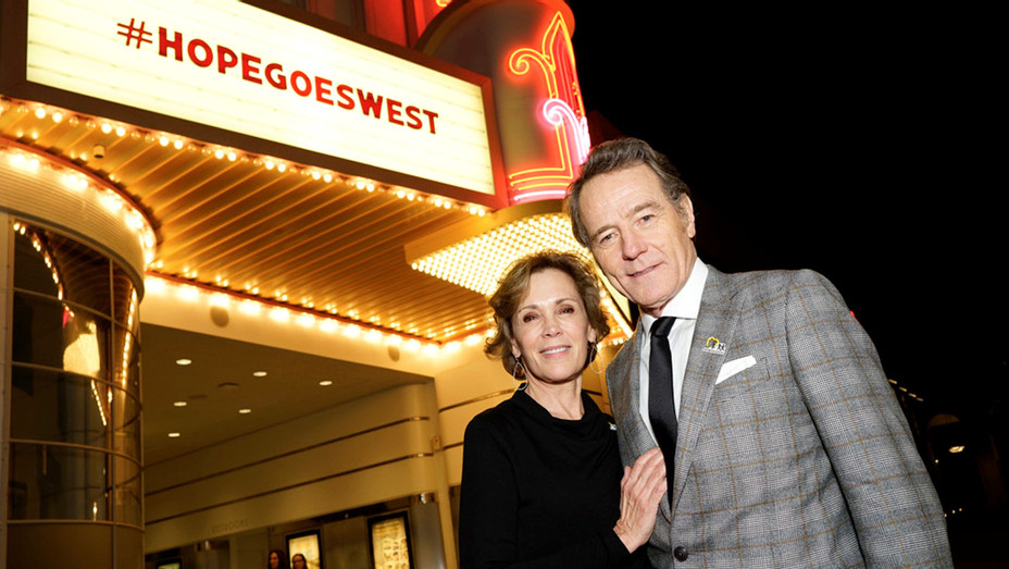 Hope Goes West  marquee - Bryan Cranston and Robin Dearden -Publicity-H 2017
