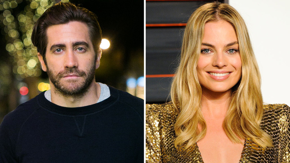 Jake Gyllenhaal and Margot Robbie - Split - Getty - H 2017