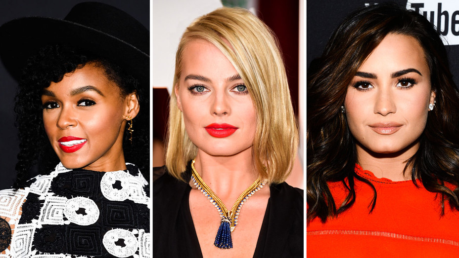 Janelle Monae, Margot Robbie and Demi Lovato - Split - Getty - H 2017