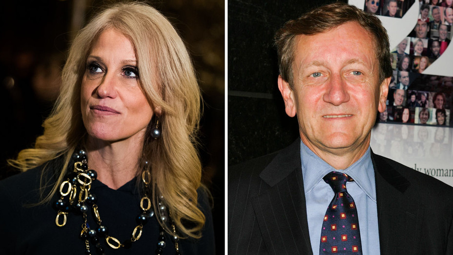 Kellyanne Conway and Brian Ross - Split - Getty - H 2017