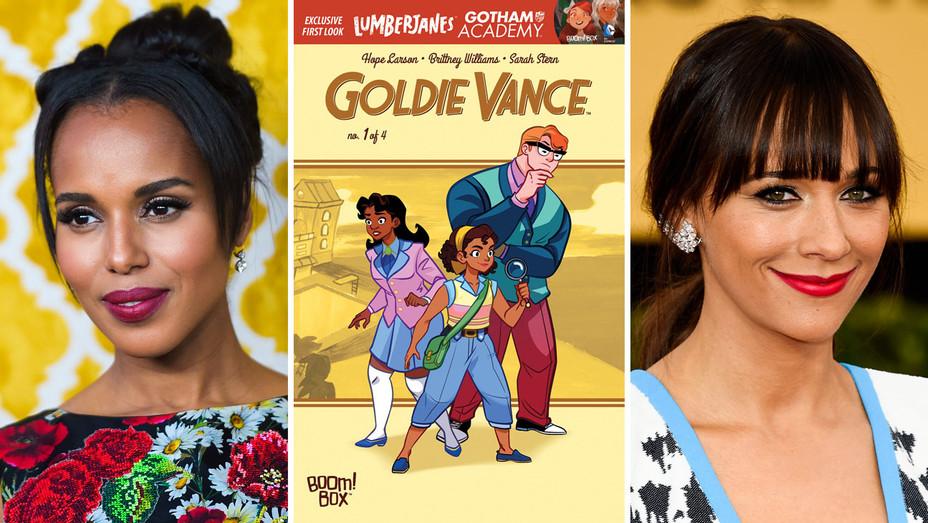 Kerry Washington, Goldie Vance Cover and Rashida Jones - Split - Getty - H 2017