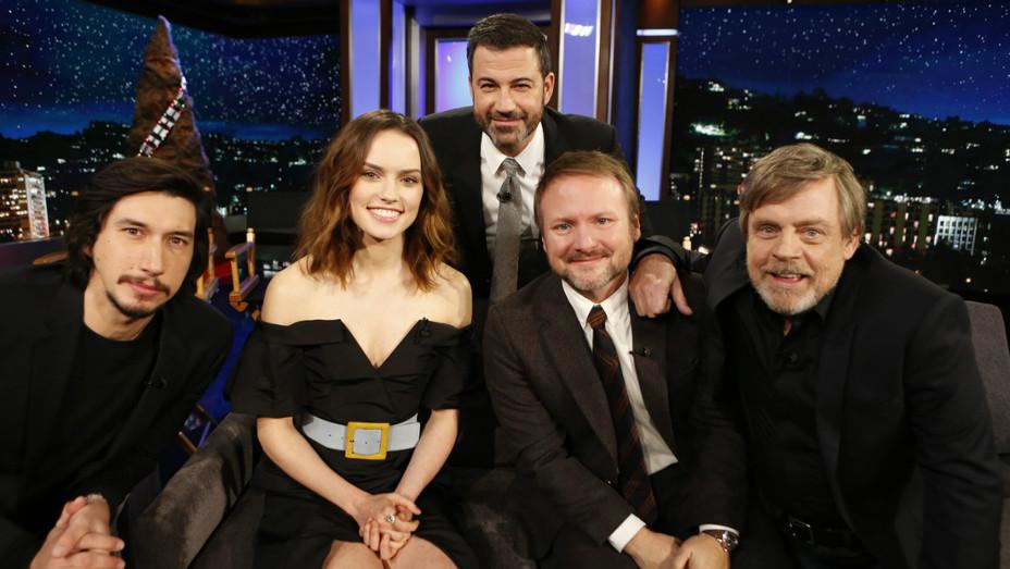Last Jedi cast on Kimmel - H