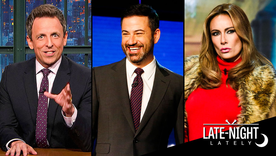 Late Night Lately - Seth Meyers, Jimmy Kimmel Live! and Stephen Colbert Skit - Publicity - H 2017