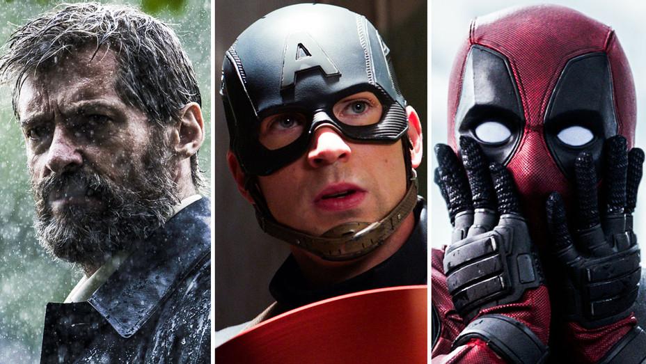 Logan, Captain America Civil War and Deadpool - Split - Photofest - H 2017