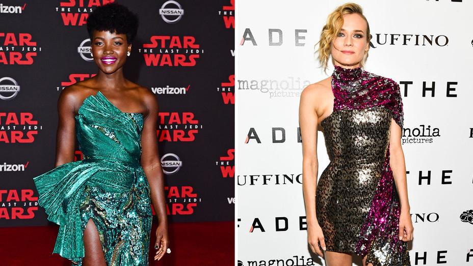 Lupita Nyong'o and Diane Kruger - Split - Getty - H 2017