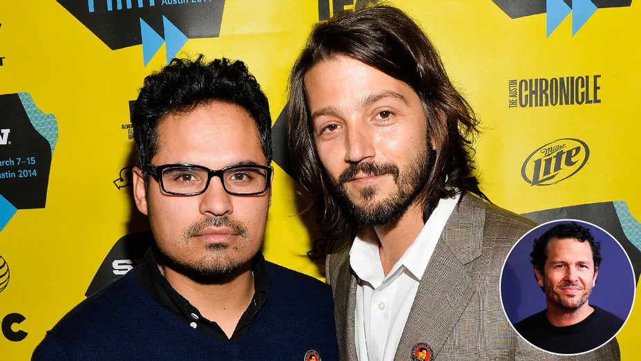 Michael Pena, Diego Luna and Eric Newman - Inset - Getty - H 2017