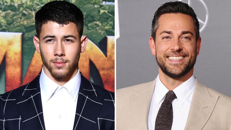 Nick Jonas and Zachary Levi  -Split-Getty-H 2017