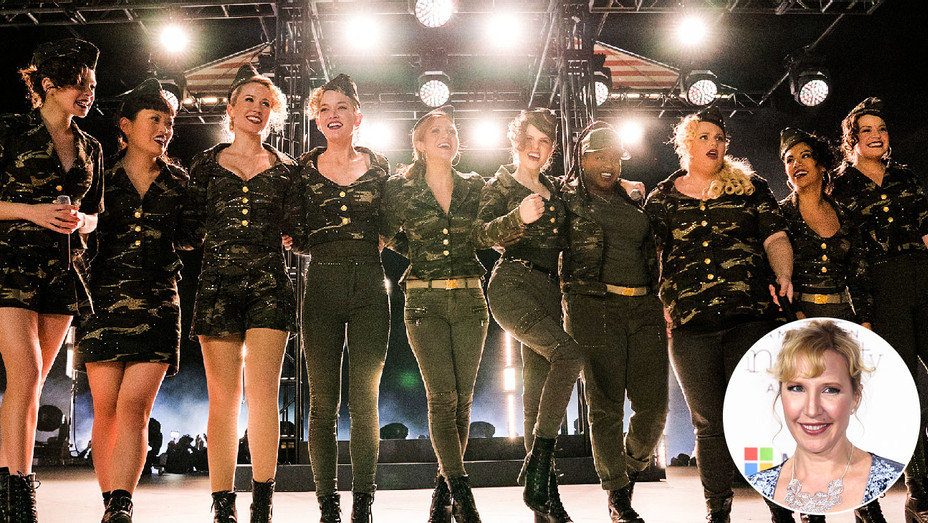 Pitch Perfect 3 Still and Trish Sie - Inset - Getty - H 2017
