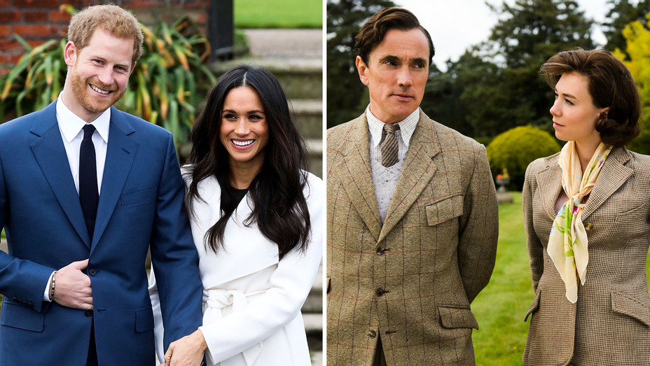 Prince Harry, Meghan Markle and The Crown Still - Split - Getty - H 2017