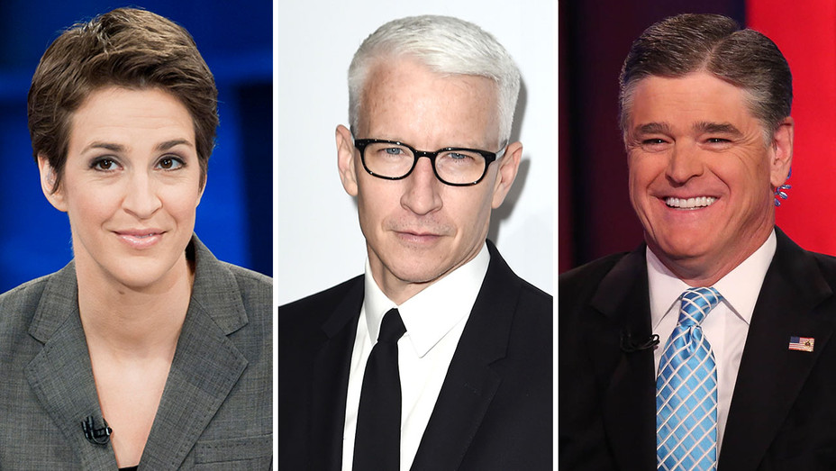 Rachel Maddow - Anderson Cooper - Sean Hannity -Split-Publicity -Getty -H 2017