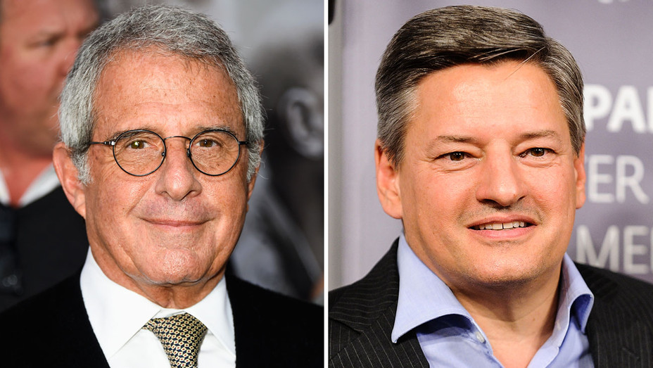 Ron Meyer and Ted Sarandos - Split - Getty - H 2017