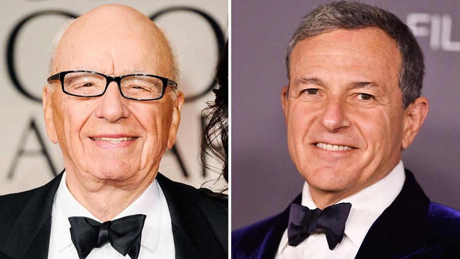 Rupert Murdoch and Bob Iger - Split - Getty - H 2017