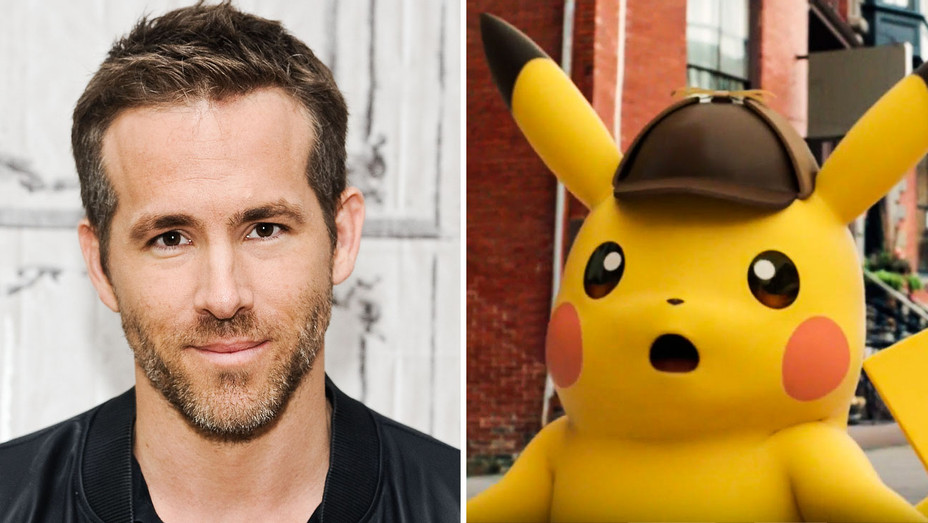 Ryan Reynolds and Detective Pikachu - Split - Getty - H 2017