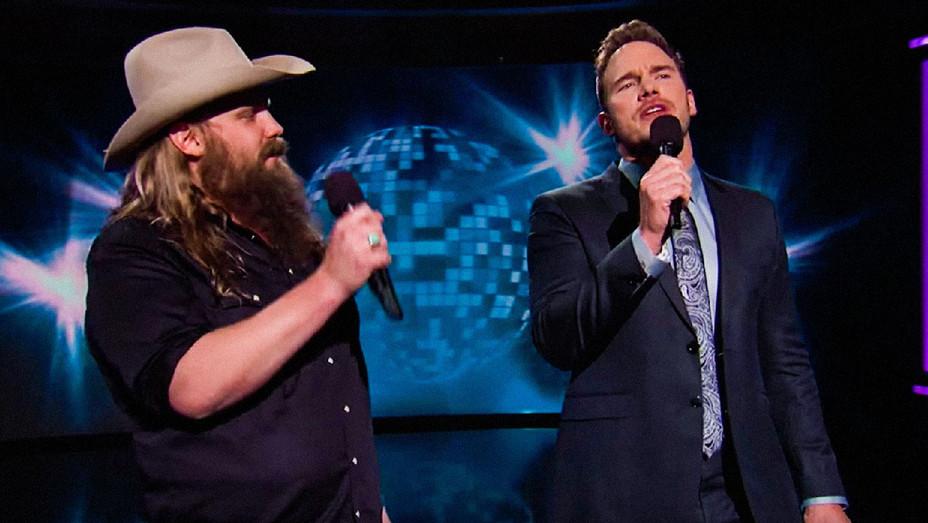 Chris Pratt and Chris Stapleton Jimmy Kimmel Live - Screenshot - H 2017