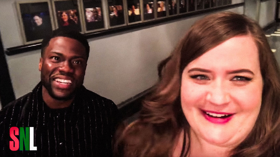 Saturday Night Live Kevin Hart and Aidy Bryant Teaser - Screenshot - H 2017