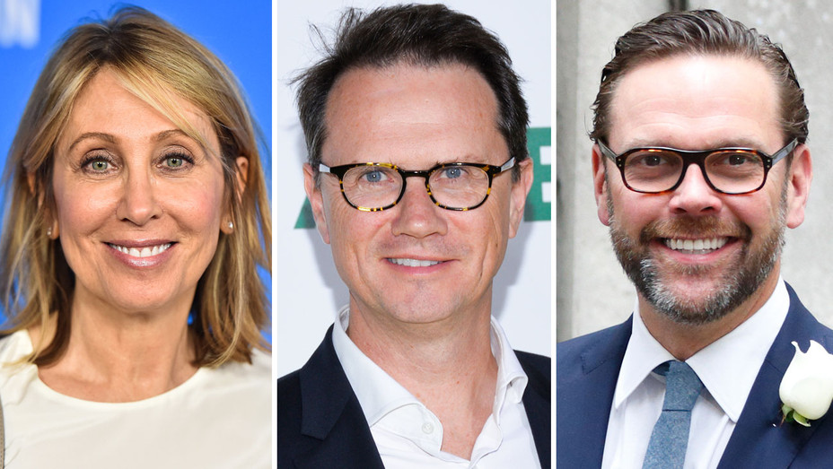 Stacey Snider, Peter Rice and James Murdoch - Split - Getty - H 2017