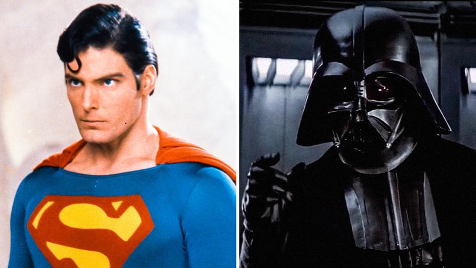 Superman Still and Darth Vader Star Wars: Episode IV - A New Hope - Split - Photofest - H 2017
