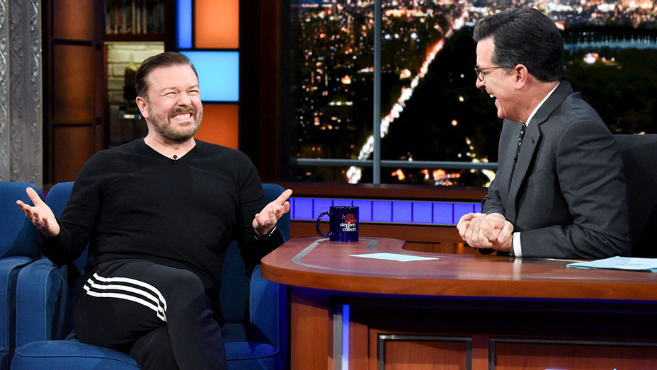 The Late Show with Stephen Colbert and guest Ricky Gervais - Publicity-H 2018