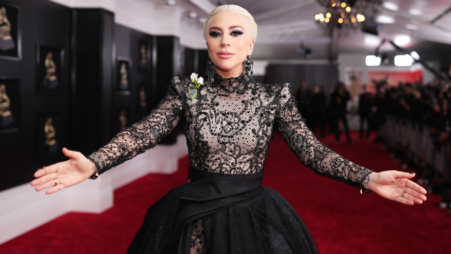 Lady Gaga on Grammys 2018 red carpet - H Getty 2018