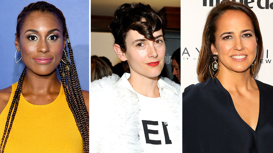 Issa Rae, Karla Welch and Anne Fulenwider-Getty-Split-H 2018