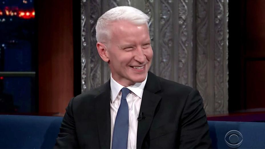 Anderson Cooper on Stephen Colbert Screen shot-H 2017