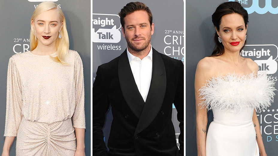 Critics Choice  - Armie Hammer, Soairse Ronan and Angelina jolie -Split- Getty-H 2018