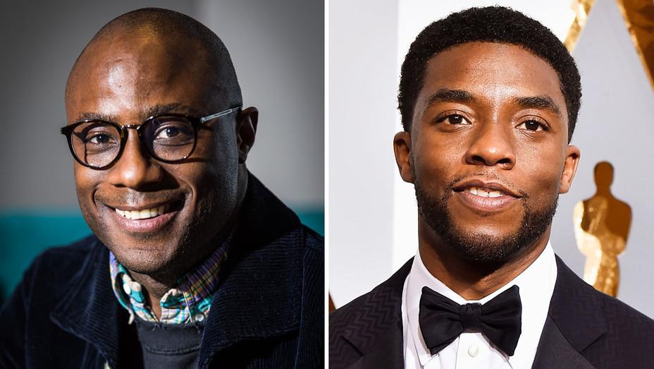 Barry Jenkins and Chadwick Boseman - Split - Getty - H 2018