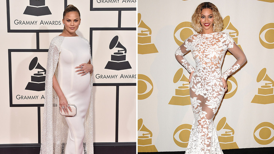 chrissy teigen_2016_beyonce_2014_Grammys_Split - Getty - H 2018