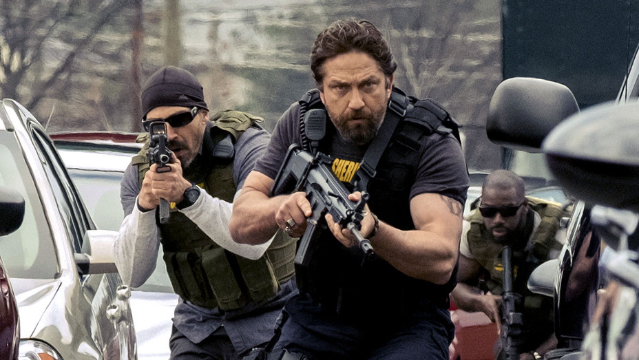 Den Of Thieves -Maurice Compte and Gerard Butler -Publicity-  H 2018