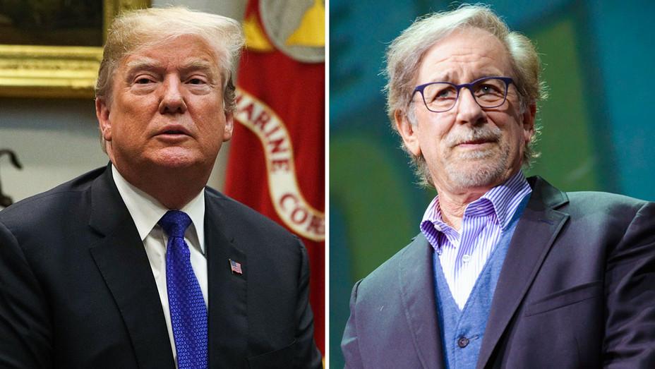 Donald Trump and Steven Spielberg - Split - Getty - H 2018
