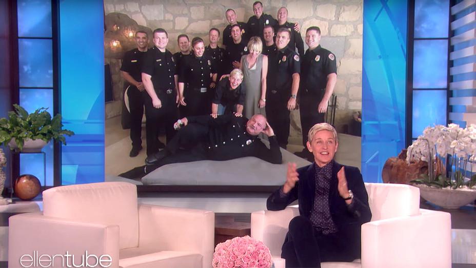 Ellen Thanks the Incredible California Firefighters -Screen shot - H 2017