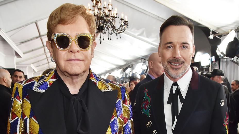 Elton John and David Furnish - Getty - H 2018