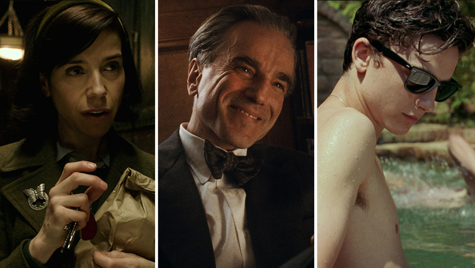 Shape of Water, Phantom Thread and Call Me By Your Name -Split-Publicity-H 2018