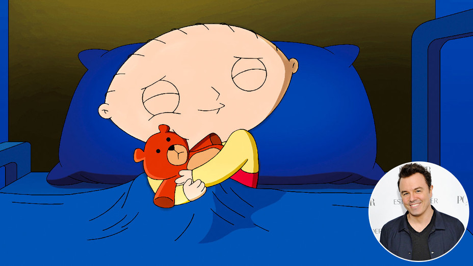 Family Guy Still and Seth MacFarlane - Inset - Getty - H 2018