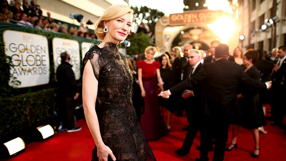71st ANNUAL GOLDEN GLOBE AWARDS -Cate Blanchett in Black 2014 - Getty-ONE TIME USE ONLY - H 2018
