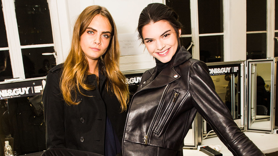 Cara Delevingne and Kendall Jenner - 2015 GILES Backstage - Getty - H 2018